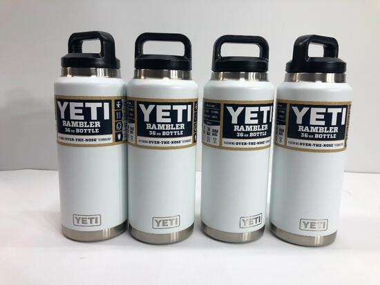 4 Items: YETI Rambler 36oz Bottle, White