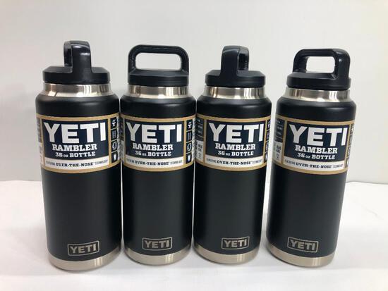 4 Items: YETI Rambler 36oz Bottle, Black