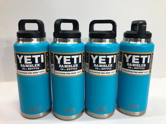 4 Items: YETI Rambler 36oz Bottle, Reef Blue