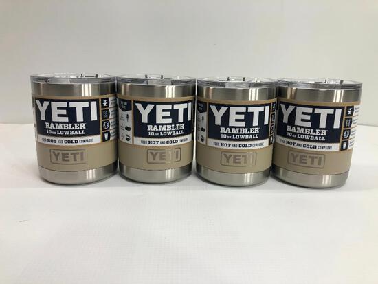 4 Items: YETI Rambler 10oz Lowball, Sand