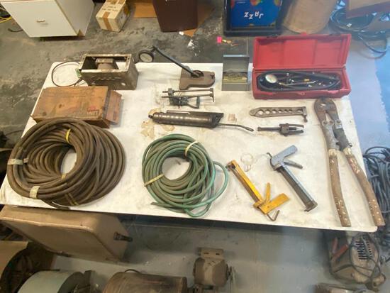 Misc. Grouping - Goodyear Fuel Line, Welding Rod, Fun Steam Punk Parts, Gauge