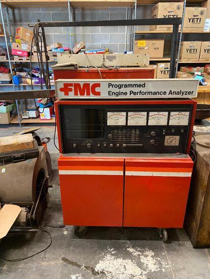 FMC Model 2800 Engine Analyzer w/ Manual, Mobile Base