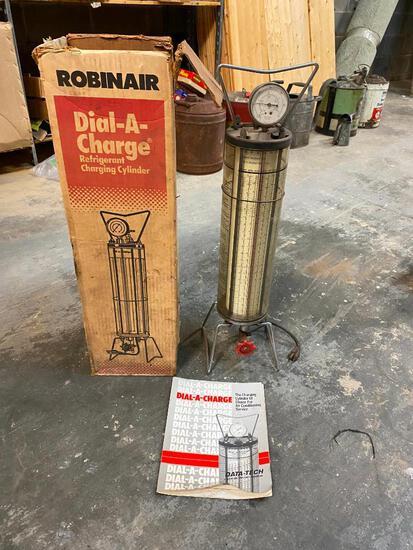 Robinair Dial-A-Charge Refrigerat Charging Cylinder w/ Manual & Orig. Box