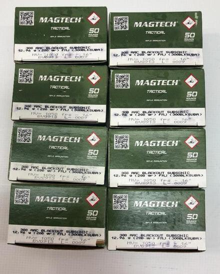 Magtech Tactical 300 AAC Blackout Subsonic 200gr FMJ - 8 Boxes, 400 Total Rounds