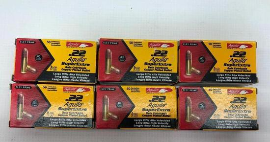 Aguila .22 SuperExtra 40gr Copper Plated - 6 Boxes, 300 Total Rounds