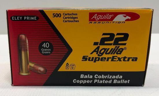Aquila Super Extra .22 40 Grains Box of 500 Rounds