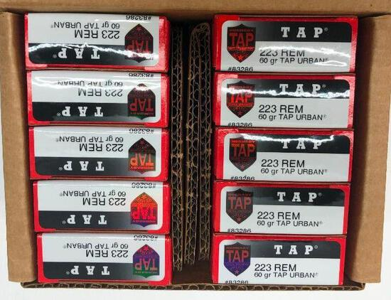 Hornady TAP Urban 60gr 223 REM - 10 Boxes, 200 Total Rounds
