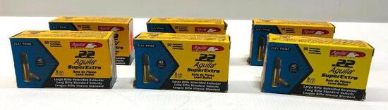 Aguila .22 SuperExtra 40gr Lead Plated - 6 Boxes, 300 Total Rounds