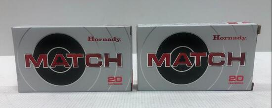 Hornady Match 224 Valkyrie 88gr ELD Match - 2 Boxes, 40 Total Rounds