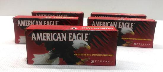 American Eagle 7.62x39 Soviet 124gr FMJ - 5 Boxes, 100 Total Rounds