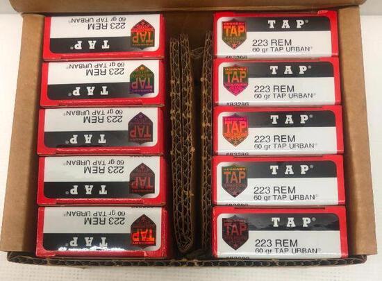 Hornady TAP Urban 223 REM 60gr - 1 Carton, 10 Boxes, 200 Total Rounds
