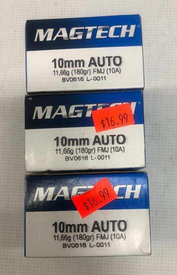 Magtech 10mm Auto 180gr FMJ - 3 Boxes, 150 Total Rounds