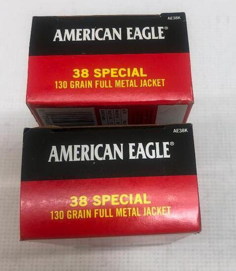 American Eagle 38 Special 130gr FMJ - 2 Boxes, 100 Total Rounds