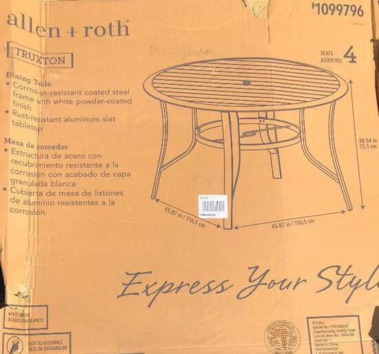 Allen and Roth Outdoor Dining Table- Missing Hardware