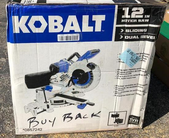 Kobalt 12in Miter Saw- Sliding Dual Bevel