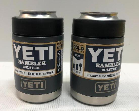 2 Items: YETI Rambler Colster, Charcoal