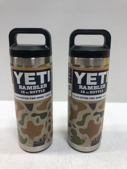 2 Items: YETI Rambler 18oz Bottle Camo