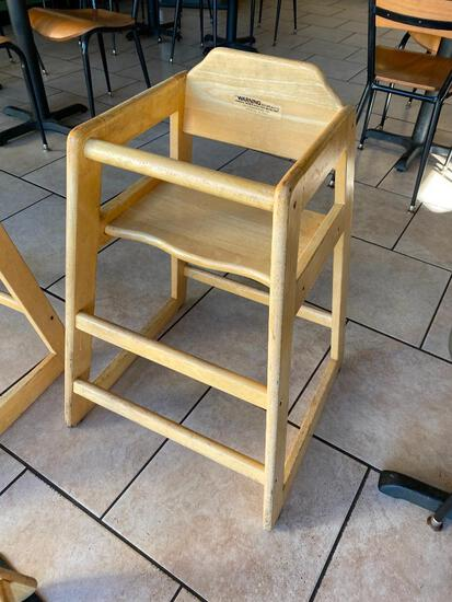 Lot of 2 Wooden High Chairs (Stackable) by Alegacy, Both for One Price