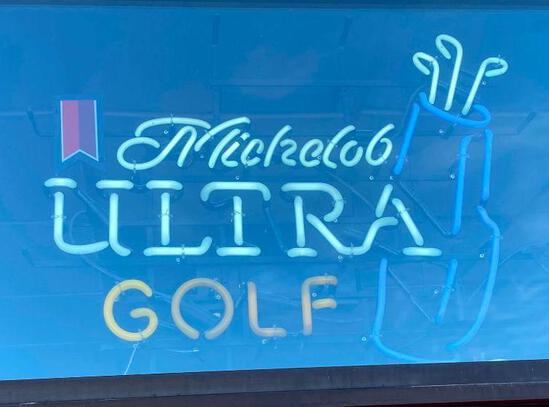 Michelob Ultra Neon Golf Beer Sign