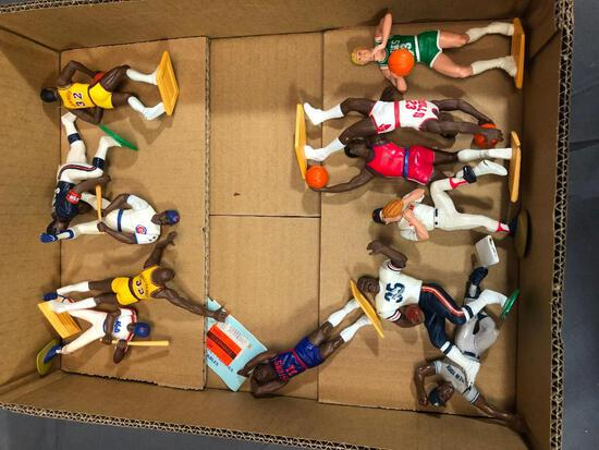 Box of Sports Figure From 80s Bird, Magic and More
