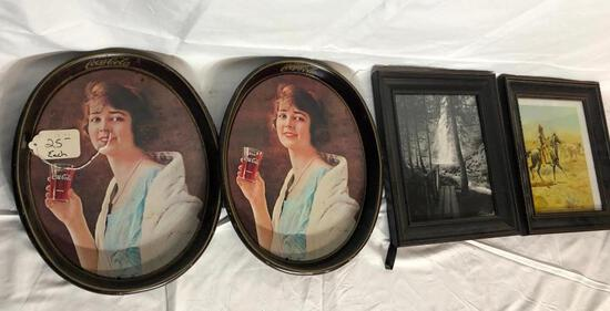 Tin Coca-Cola Trays, Framed Prints