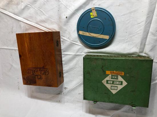 8mm Film/Reel, Metal First Aid Kit, Fancy Bible