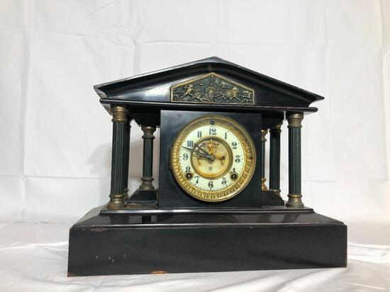 Ansonia Clock Co. NY Cast Metal Mantle Clock