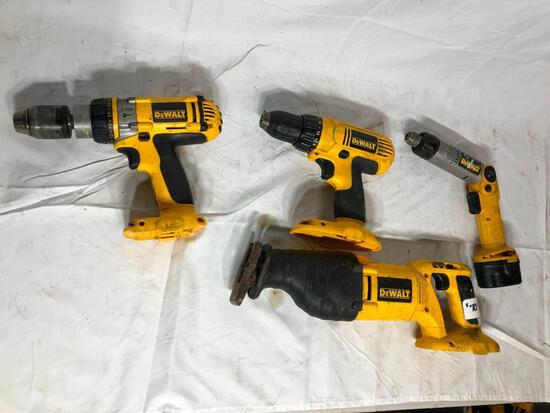 Box of DeWalt Circular Saw and Drills No Batteries 18 V and 12 V