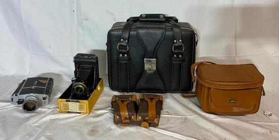 Vintage Camera Equipment, Bags, Cameras, Misc. See Images