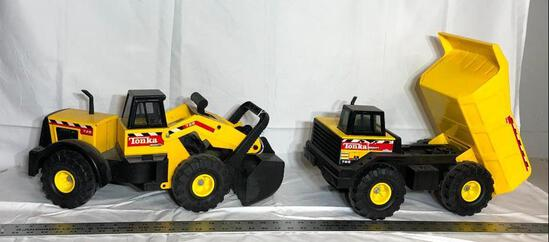 Lot of 2 Tonka Toys, Front End Loader & Dump Truck