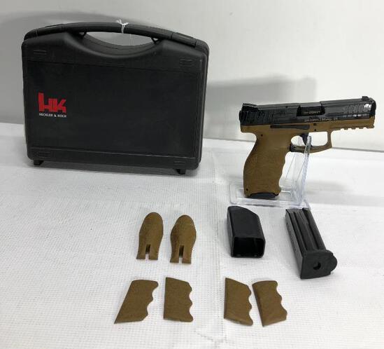 Heckler & Koch PI, VP9, 9mm, FDE w/ 2 15rd Mags, SN: 224-239603 Semi-Auto Pistol