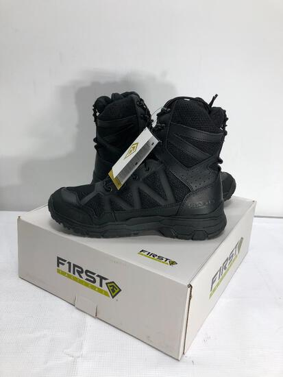 "First Tactical Men's 7"" Operator Black Boots Size 10 , MSRP: $129.99"