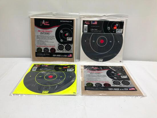 Lot of 4 Items: (4) Pro-Shot Products Splatter Shot Reactive Shooting Targets