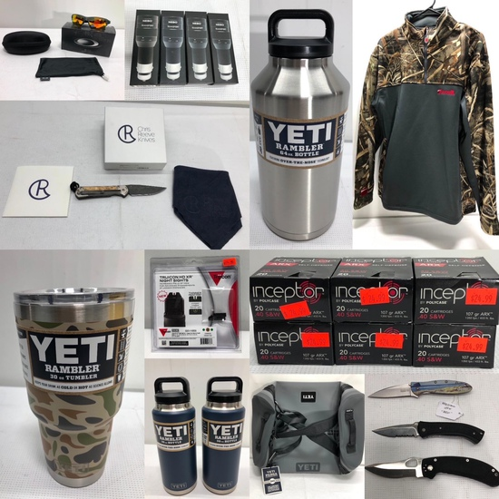 NEW Ammunition, YETI Products, Knives & More 1/24