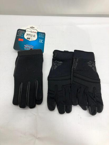 Lot of 2 Items: (1) Armor Flex PFU-4 Black Size XL Gloves, (1) Hex Armor Elite Needlestick Resistant