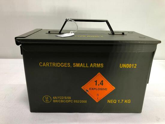 5.56 x 45mm Ball M193, 1,000 Rounds w/ Ammo Box