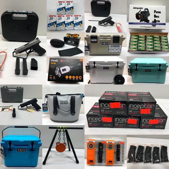 New Firearms, Ammo, YETI, Oakley, Gun Parts 1/31