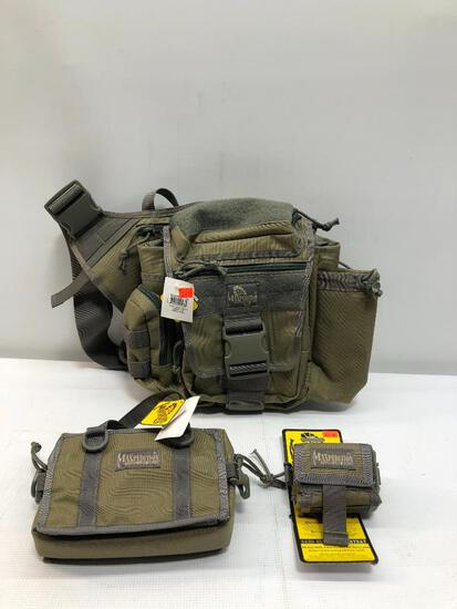 Lot of 3 Items: (1) MaxPedition Jumbo S-Type Bag, (1) MaxPedition Rollypoly Dump Pouch, (1)