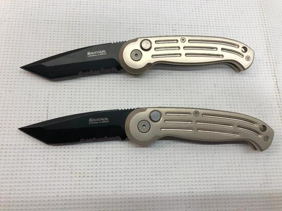 Lot of 2 Items: (2) Magnum A Division of Boker 420 Stainless