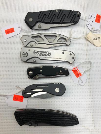 Lot of 6 Items:(1) HK 154CM, (1) Sagehorn Seed Rostfrei, (1) Beretta 002A, (1) Smith & Wesson