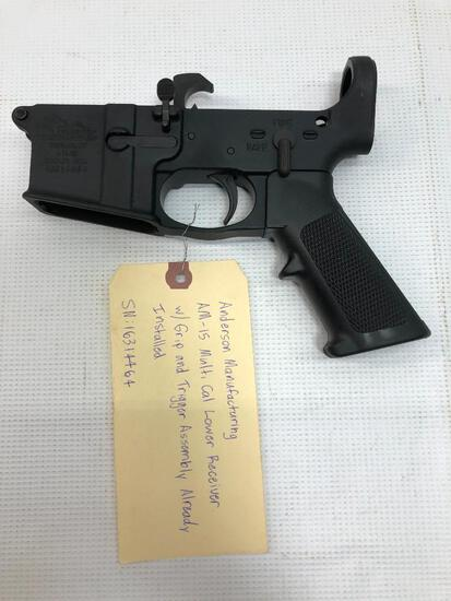 Anderson Mfg AM-15 Multi Cal Lower Receiver w/ Grip & Trigger Assembly Installed