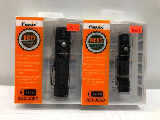 Fenix RC11 Magnetic Charging Flashlight, NIB - Lot of 2