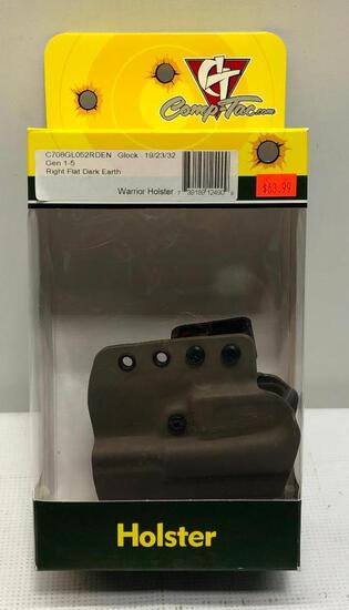 Comp-Tac Warrior Holster Glock Gen 1-5 Model 19/23/32, Right, Flat Dark Earth