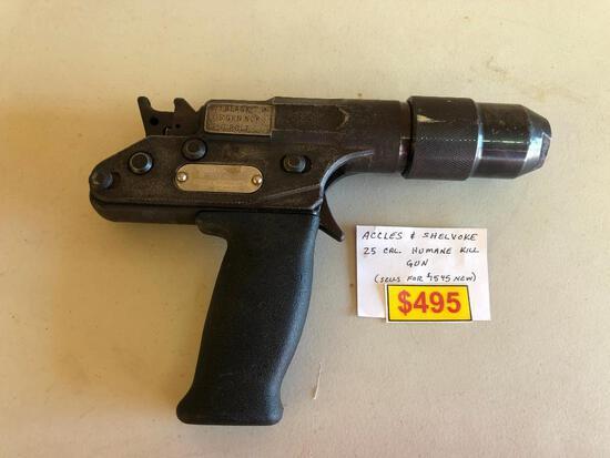 Accles & Shelvoke 25 Cal. Humane Kill Gun - Old (Est. Value. $1,545.00)