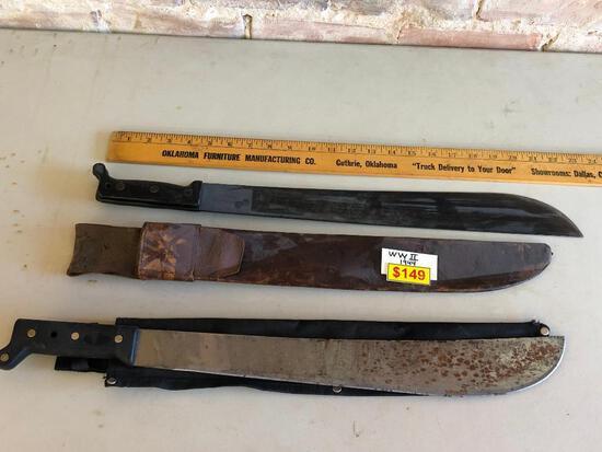 Machete Corn Knife, True Temper U.S. 1944 Machete w/ Sheath