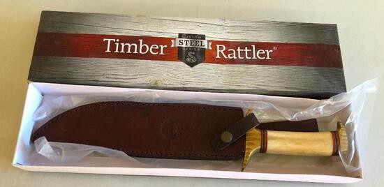 Timber Rattler Custom Steel Series Knife w/ Orig. Box & Sheath 10in Blade