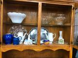 Lots of Snack Sets, & Punch Bowl Cups, Some Relish Trays, Punch Bowls, Glassware, Pitchers, Cake