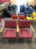Six Vintage Chairs, 3 Sets of 2