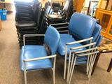 Set of 5 Matching Softcare Wide Width Stack Chairs, Metal Frame, Padded Seat & Back