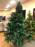 Artificial Christmas Tree, Approx. 6ft on Stand - Pre-Lit w/ Strand of Lights